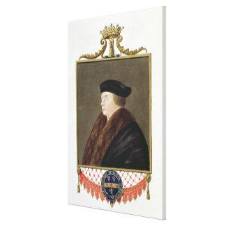 Retrato del conde de los Ist de Thomas Cromwell (c Impresión En Lienzo