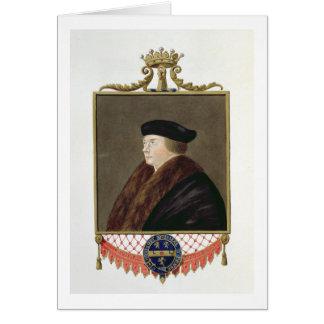 Retrato del conde de los Ist de Thomas Cromwell (c Tarjeta De Felicitación
