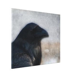 Retrato del cuervo impresion en lona