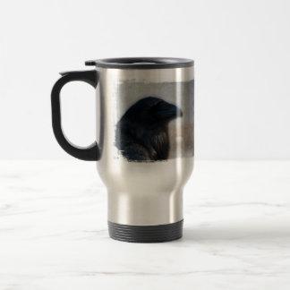 Retrato del cuervo taza de viaje de acero inoxidable