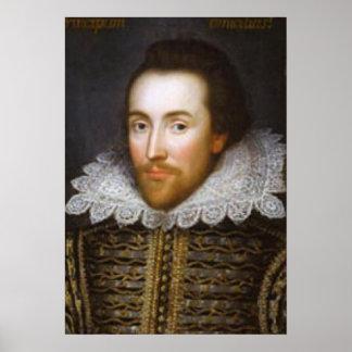 Retrato del curso de la vida de Shakespeare Posters