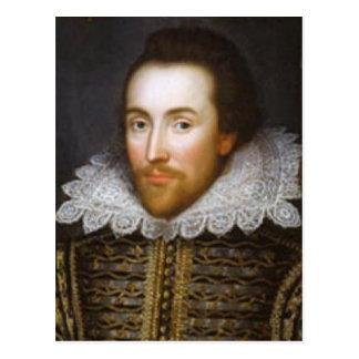 Retrato del curso de la vida de Shakespeare Postales