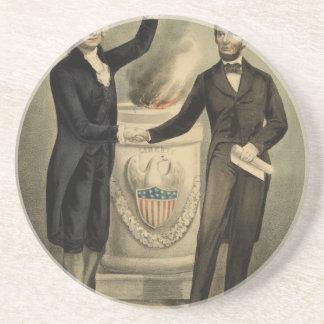 Retrato del curtidor y de Ives de Washington y de Posavasos Personalizados