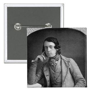 Retrato del Daguerreotype del caballero 1845 Pin Cuadrado