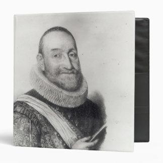 """Retrato del d'Aubigne de Theodore Agrippa Carpeta 1 1/2"""""""