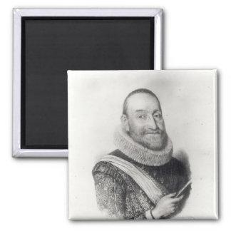 Retrato del d'Aubigne de Theodore Agrippa Imán Para Frigorífico