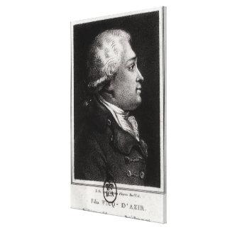 Retrato del d'Azyr de Felix Vicq Lienzo Envuelto Para Galerias
