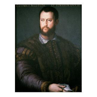Retrato del de Medici de Cosimo I siglo XVI Postal