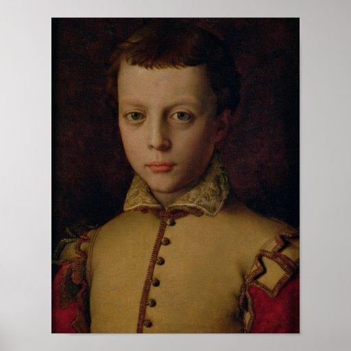 Retrato del de Medici de Fernando Póster