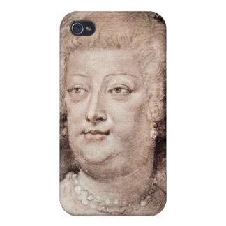 Retrato del de Medici de Maria de Paul Rubens iPhone 4 Cárcasa