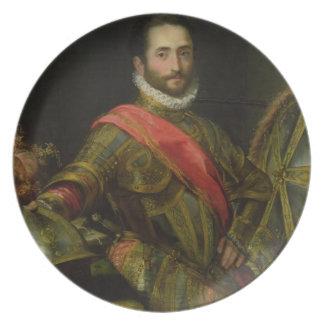 Retrato del della Rovere, c.1572 (aceite de Franci Plato De Comida