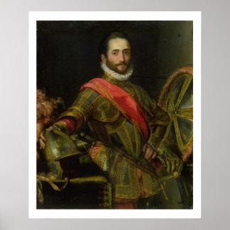 Retrato del della Rovere, c.1572 (aceite de Franci Póster