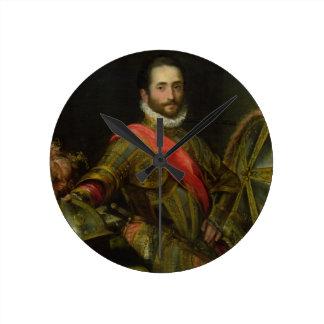 Retrato del della Rovere, c.1572 (aceite de Franci Reloj Redondo Mediano