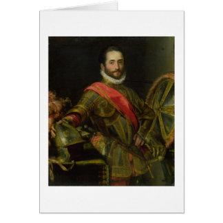 Retrato del della Rovere, c.1572 (aceite de Franci Tarjeta De Felicitación