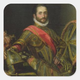 Retrato del della Rovere, c.1572 (aceite de Pegatina Cuadrada