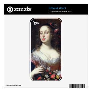 Retrato del della Rovere de Vittoria vestido como  Calcomanías Para iPhone 4S