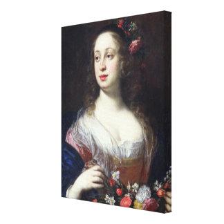 Retrato del della Rovere de Vittoria vestido como  Impresiones En Lona