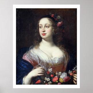 Retrato del della Rovere de Vittoria vestido como  Posters