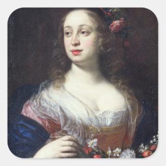 Retrato del della Rovere de Vittoria vestido como Pegatina Cuadrada