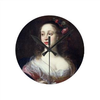 Retrato del della Rovere de Vittoria vestido como  Reloj Redondo Mediano