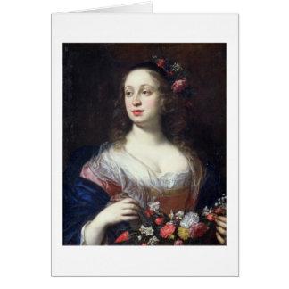 Retrato del della Rovere de Vittoria vestido como  Tarjeta De Felicitación