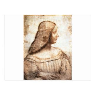 Retrato del d'Este de Isabela Tarjeta Postal