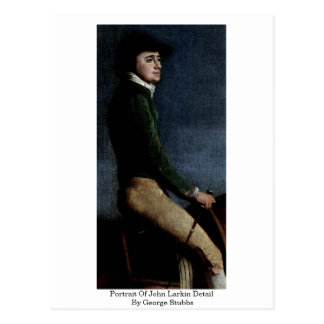 Retrato del detalle de Juan Larkin de George Stubb Postales
