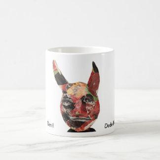 Retrato del diablo taza básica blanca