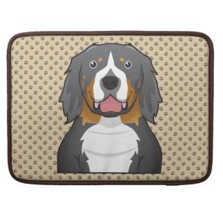 Retrato del dibujo animado del perro de montaña de funda para macbooks