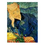 Retrato del doctor Gachet, bella arte de Van Gogh Tarjetas Postales