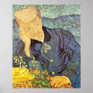 Retrato del doctor Gachet de Vincent van Gogh Póster