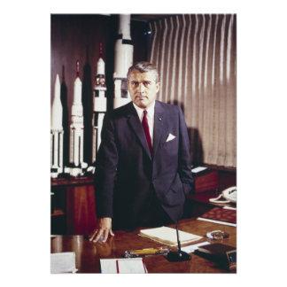 Retrato del doctor Wernher von Braun Invitacion Personalizada