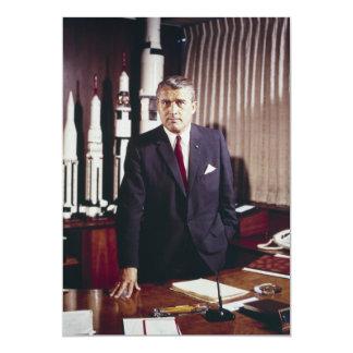 Retrato del doctor Wernher von Braun Invitación 12,7 X 17,8 Cm