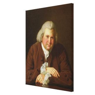 Retrato del Dr Erasmus Darwin Impresión En Lona Estirada