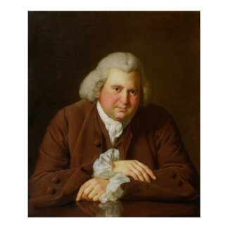 Retrato del Dr. Erasmus Darwin Póster