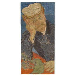 Retrato del Dr. Gachet de Vincent van Gogh Memoria USB 2.0 De Madera