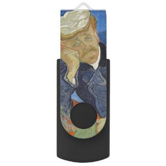 Retrato del Dr. Gachet de Vincent van Gogh Pen Drive Giratorio USB 2.0