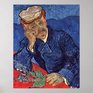 Retrato del Dr. Gachet de Vincent Willem Van Gogh Póster