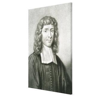 Retrato del Dr Isaac Barrow Lona Envuelta Para Galerías