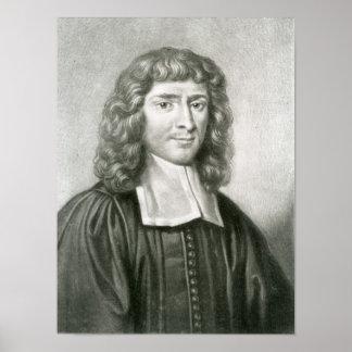 Retrato del Dr. Isaac Barrow Póster