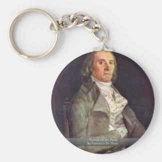 Retrato del Dr. Peral By Francisco De Goya Llavero Personalizado