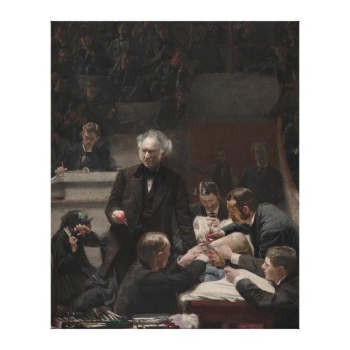 Retrato del Dr. Samuel D. Gross de Thomas Eakins Impresion De Lienzo