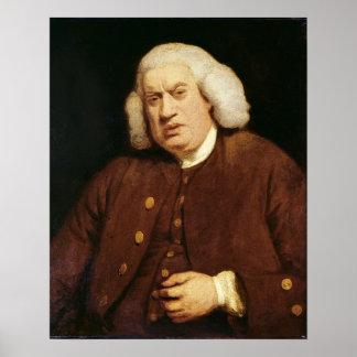 Retrato del Dr. Samuel Johnson Poster