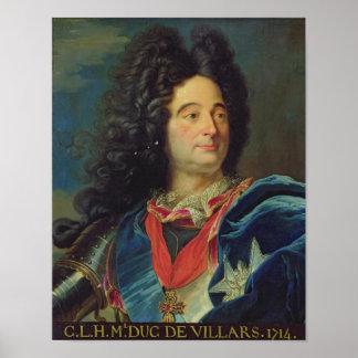 Retrato del duque de Louis-Claude-Hector de Póster