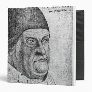 "Retrato del duque de Rene I de Anjou Carpeta 1 1/2"""