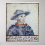 Retrato del duque de Rene I de Anjou Poster