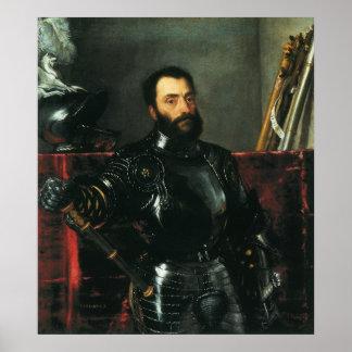 Retrato del duque de Urbino por Titian Póster