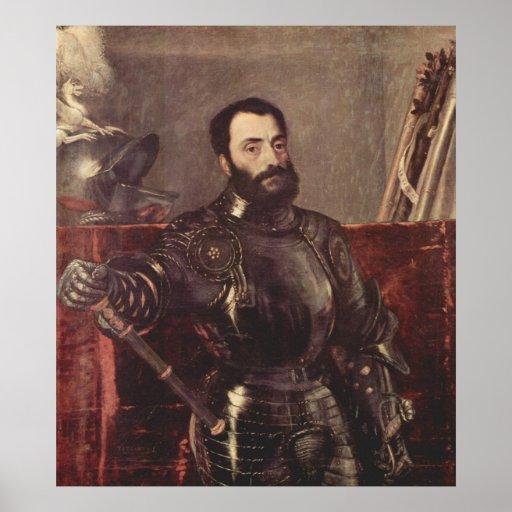 Retrato del duque de Urbino Póster