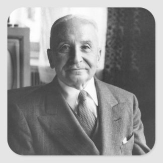 Retrato del economista austríaco Ludwig von Mises Pegatina Cuadradas