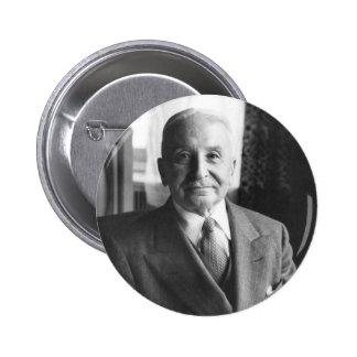 Retrato del economista austríaco Ludwig von Mises Pin Redondo De 2 Pulgadas